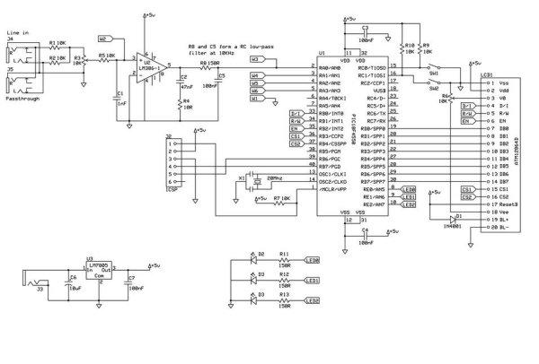 Spectrum analyzer based PIC18F4550 Schemetic