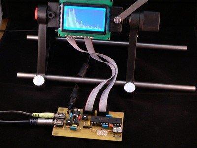 Spectrum analyzer based PIC18F4550
