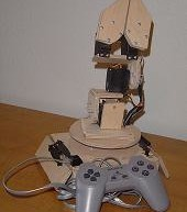 The Wooden Menace – a Mighty Robotic Arm Powered by Servos using pic microcontoller