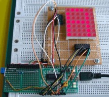 Basics of LED dot matrix display. Part 1. Theory using pic microcontoller