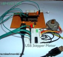 USB Stepper Motor Driver using pic microcontoller
