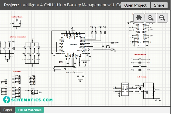 Intelligent 4-Cell Lithium Battery Management with CAN/LIN Interface