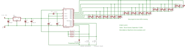 A PIC16F819 DYMOCLOCK Schematic