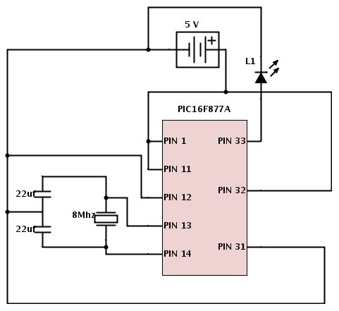 Basic PIC circuit is not working Schematic