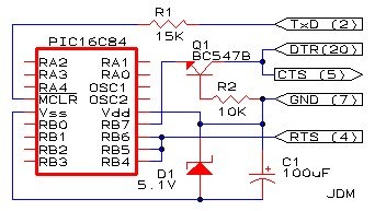 Cheap PIC Programmer Schematic