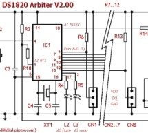 DS1820 Arbiter V2.00 Schematic / Parts List