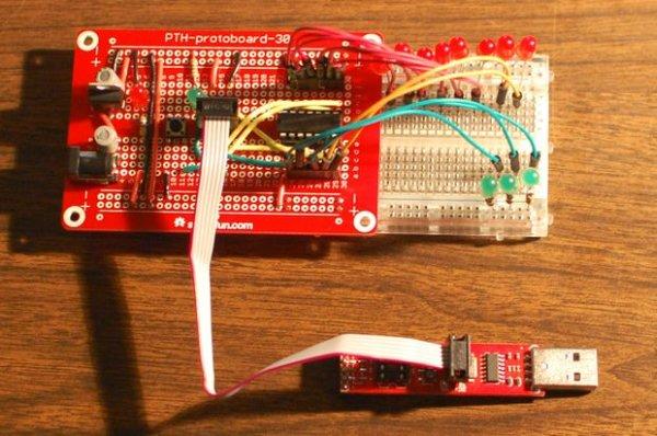 Development board for Attiny84 Microcontroller