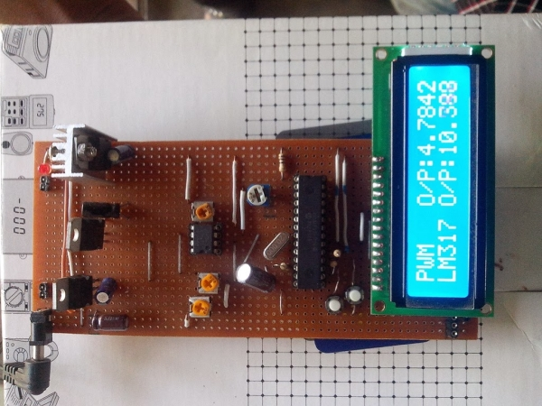 Digital DC Power supply using PWM with PIC microcontroller