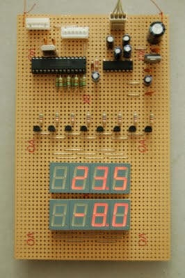 Digital Thermometer and Clock Project (Version 1.0) Board