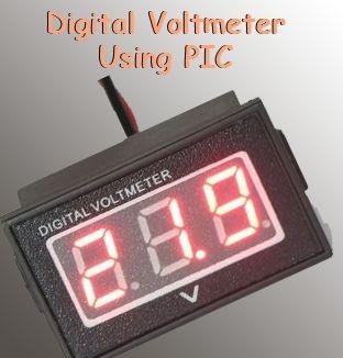 Digital Voltmeter Using PIC Microcontroller 16F877A and Seven Segments Display (0-30V)