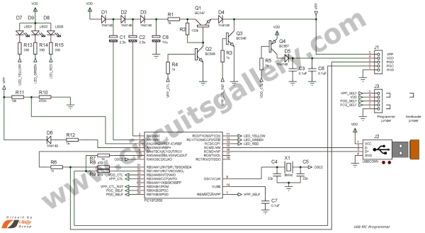 How to Build your Own USB PIC Programmer Schematic