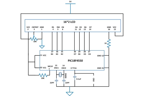 How to Generate Sound using PWM with PIC Microcontroller Schematic