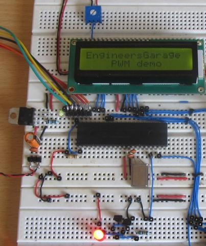 How to Glow an LED using PWM with PIC Microcontroller