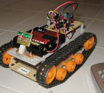 IR Remote Controlled Tracked Robot