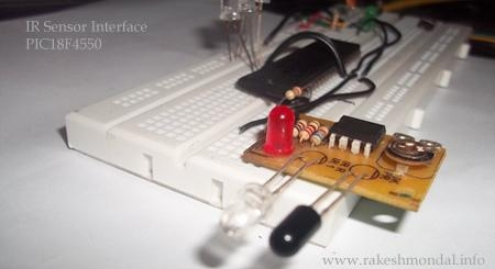Infrared IR Sensor Interface with PIC18F4550 Microcontroller