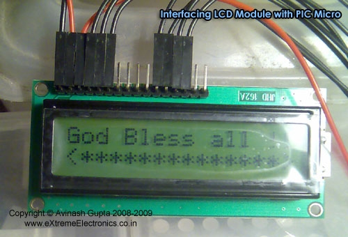 Interfacing LCD Modules with PIC Microcontrollers.