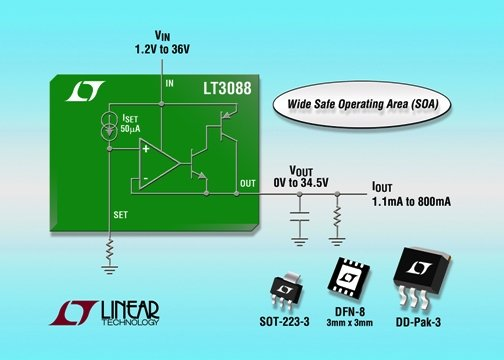 LT3088 - 800mA Single Resistor Rugged Linear Regulator