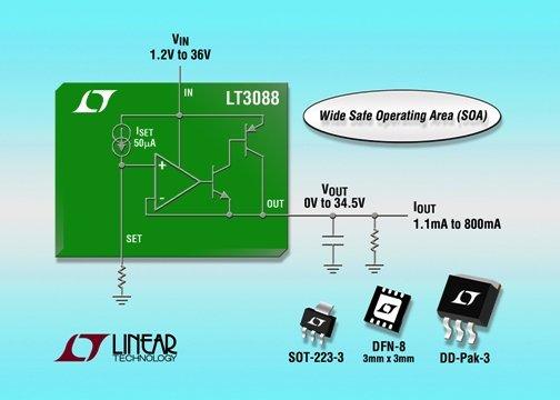 LT3088 - 800mA Single Resistor Rugged Linear Regulator