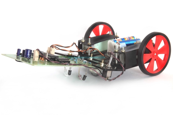 Line following Robotic Vehicle using Microcontroller