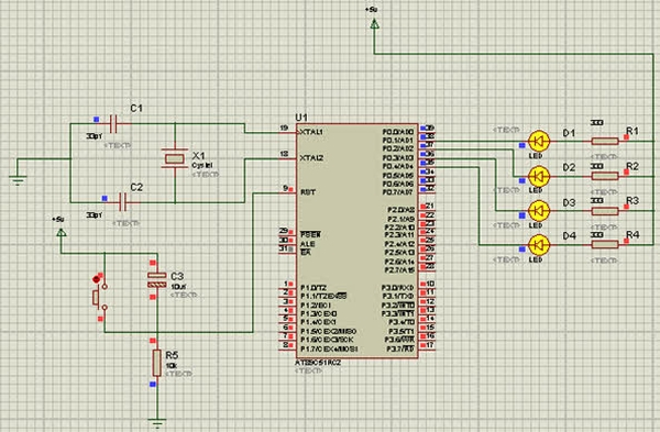 Major Electronic Peripherals Interfacing to Microcontroller 8051 Schematic