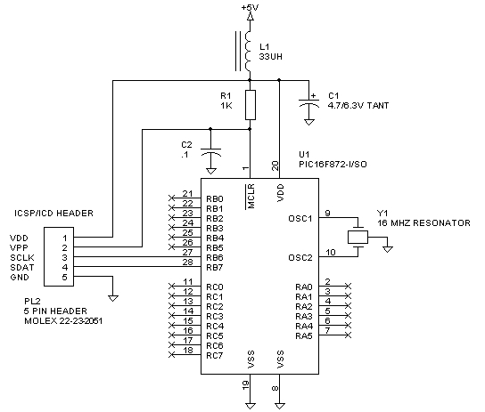 Microchip PIC Microcontrollers Schematic