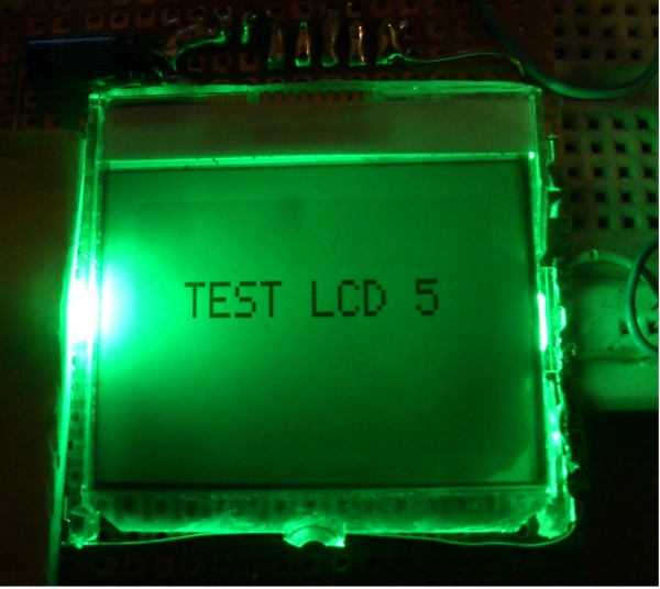 Nokia 3315 3310 LCD interfacing with Microcontroller