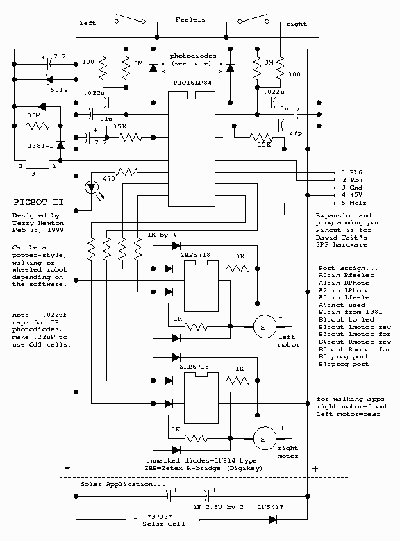 PIC-Bot II Schematic