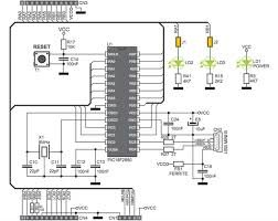 PIC Development Board – Hello World Project Schematic