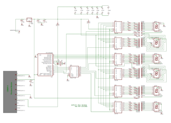 PIC based WWVB clock Schematic
