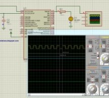 PIC16F877A timer0 code + Proteus simulation
