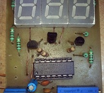 PIC16c71 four channel digital voltmeter