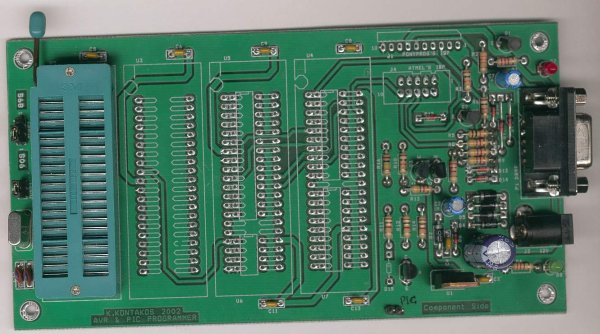 Ponyprog Circuit for AVR & PIC16F84 Schematic Board