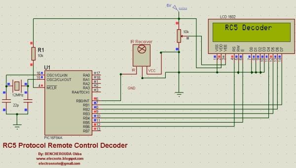 RC5 Protocol Remote Control Decoder Schematic