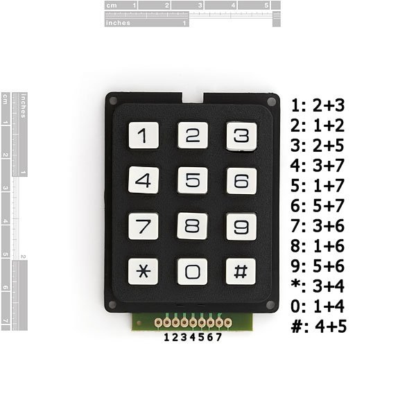 Simple Button Keypad - Microcontroller