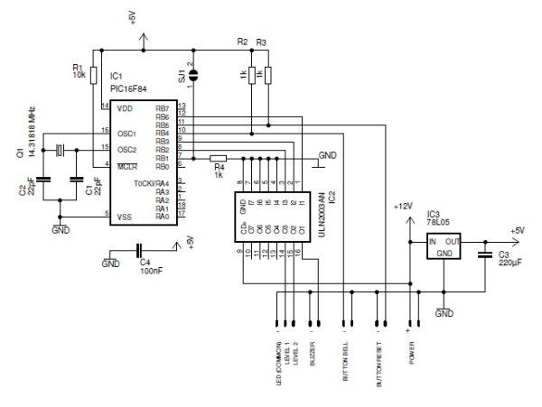Smart doorbell System Schematic
