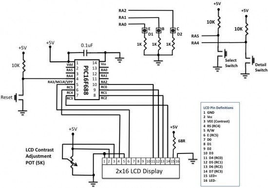 Spring Contact Probes schematic