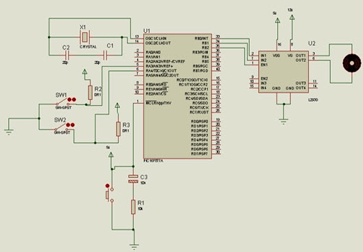 Top PIC Microcontroller Projects with Embedded C Programming Schematic