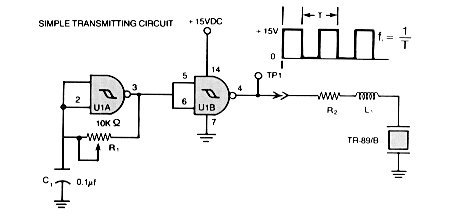Ultrasonic Position System schematic