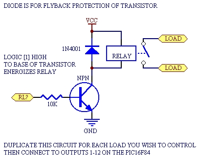 Using PicBasic with the PIC16F84 PIC Microcontroller Schematic