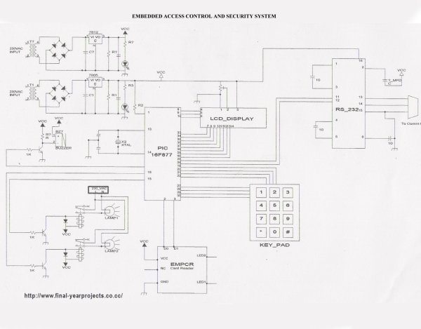 microcontroller based projects circuit free Schematic
