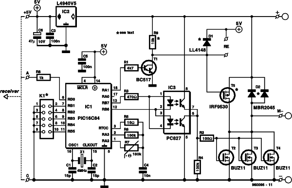 motor controller for R C models Schematic