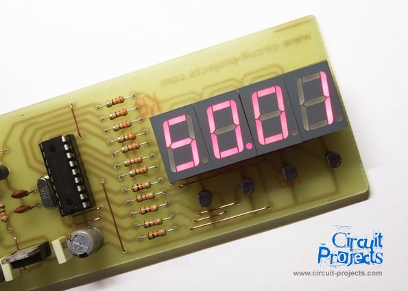 Frequency Counter by PIC16F628 schematic