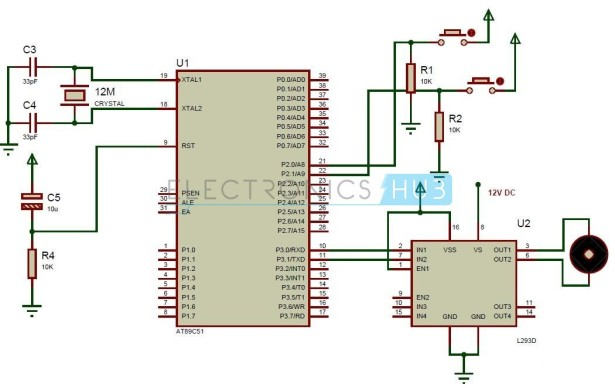 Interfacing DC Motor with 8051 Microcontroller