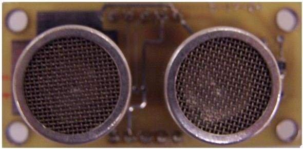 Ultrasonic Range Finder Circuit AD605 PIC16F876 schematic