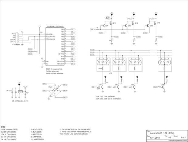 aurora 9x18 rgb led art rh pic microcontroller com Complete Circuit Diagram Battery Backup Circuit Diagram