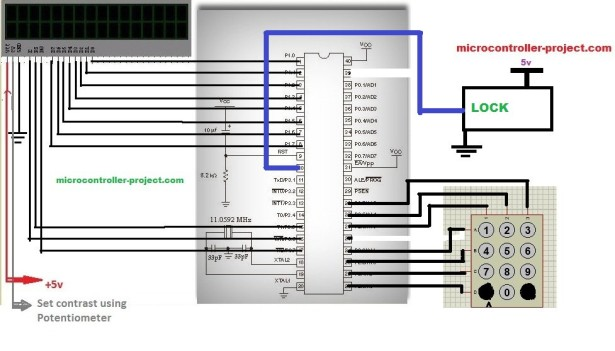 Automatic door lock system using 8051(89c51,89c52) microcontroller