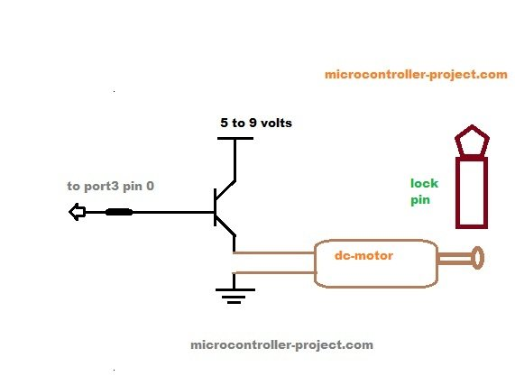 Automatic door lock system using 8051(89c51,89c52) microcontroller schematich
