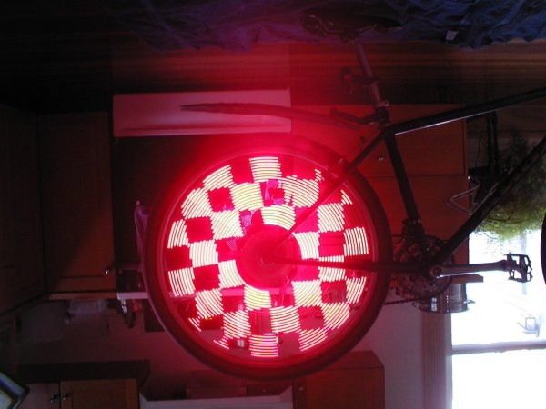 Bicycle Persistence of Vision Light Display  February 2007