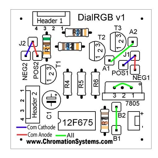 Cheap and Easy Dial Controlled High Power RGB LED(s) Driver schematic
