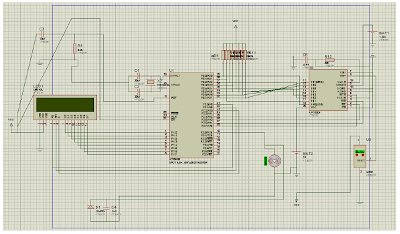 DC Motor Control using Temperature Sensor & 8051 Microcontroller schematic